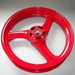 600 Katana wheel in wet red