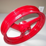 600 Katana wheel in wet red